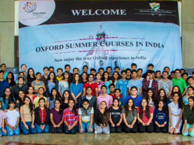 Oxford Summer Courses in India 2018 – Empowering students to be global ready