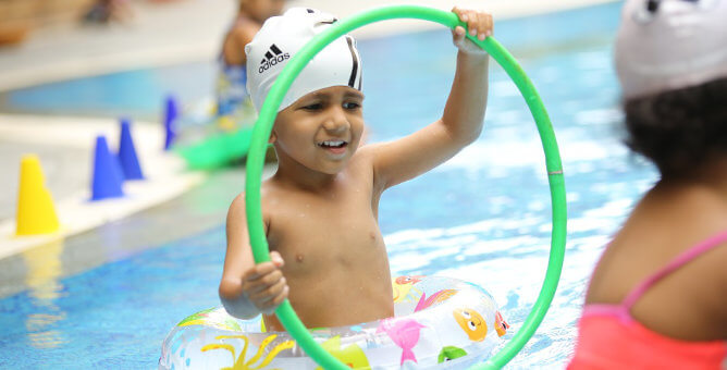 At such an early stage they get an exposure to learn life skills such as they get to learn the basics of swimming at the beautiful splash pool in the school