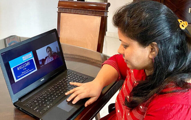 Parents can see students' progress from their comfort of home